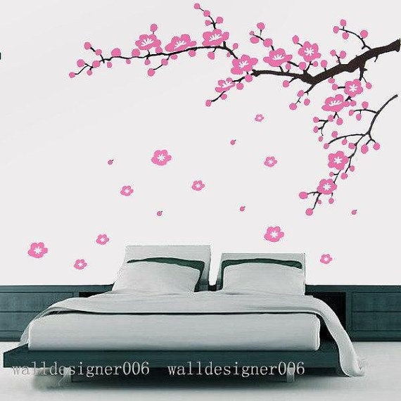 Removable Vinyl wall sticker cherry blossom by walldecals001