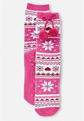 Fair Isle Slipper Socks | new stuff that I like for Christmas ...