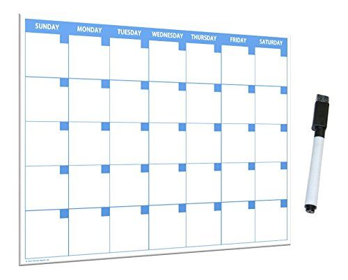 Amazon.com : 11x17 Large Monthly Dry Erase Magnetic Calendar with ...