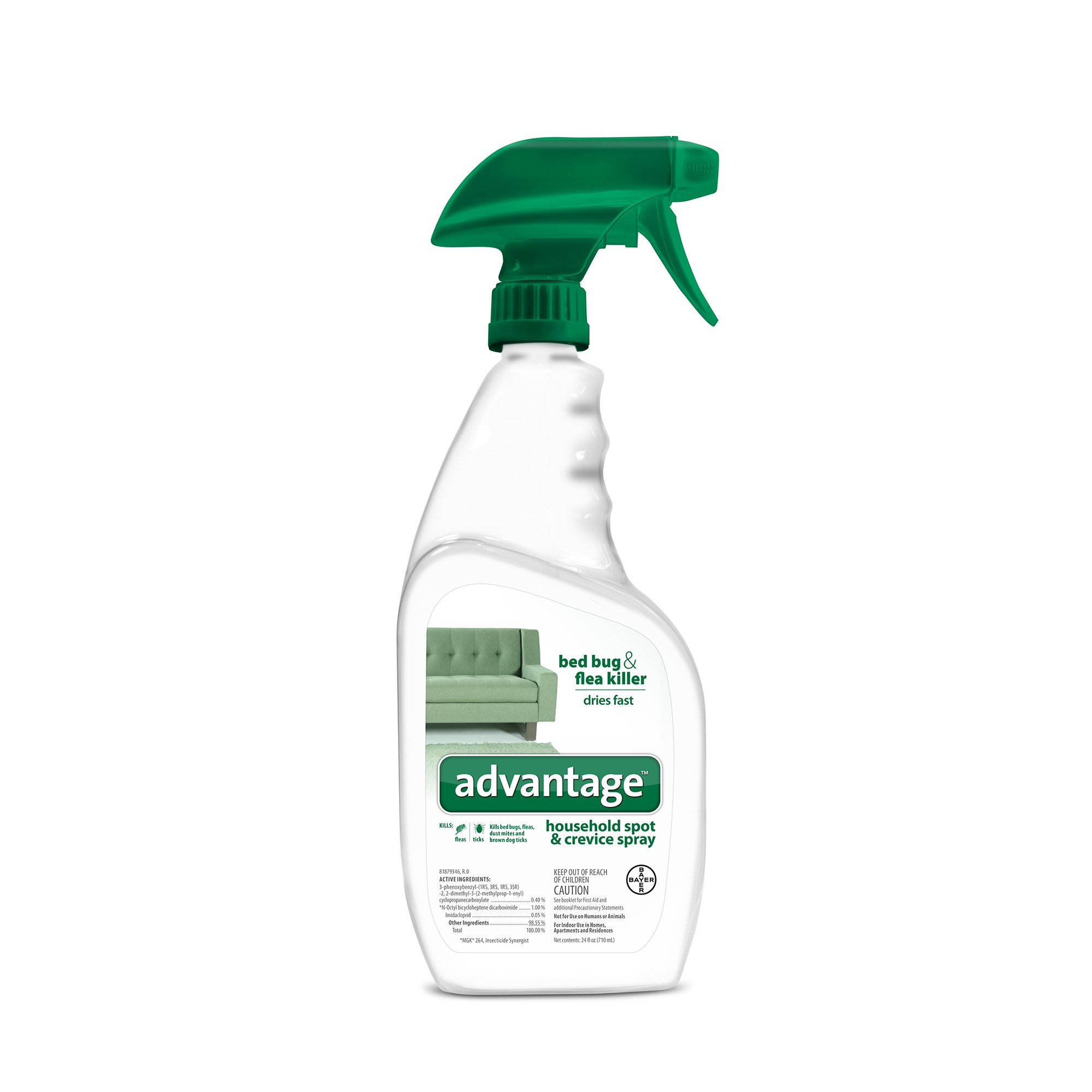 Advantage Bayer Household Spot Crevice Spray 24 Fl Oz Flea