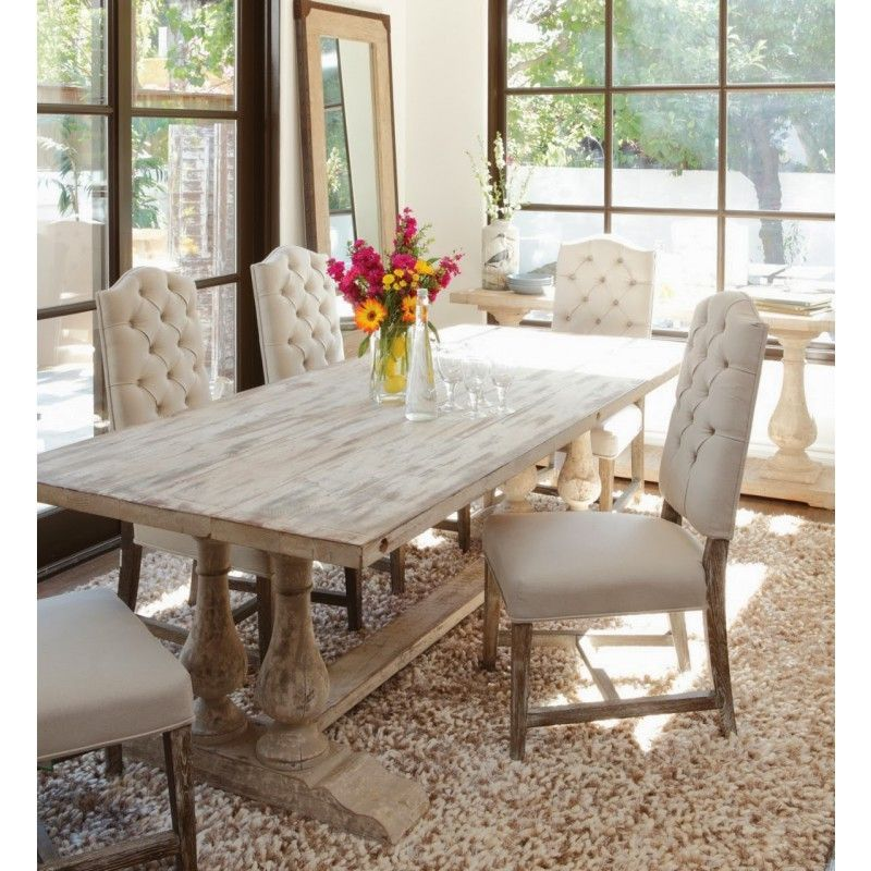 Windsor Dining Table Antique White Farmhouse Dining Room Table Chic Dining Room Dining Room Decor