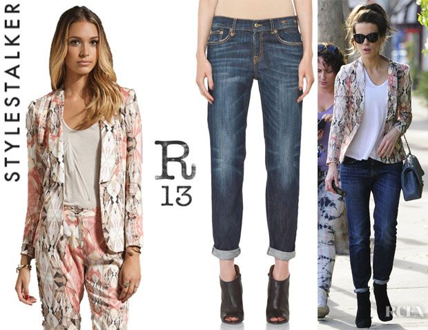348a8acf07d3e6 Kate Beckinsale's Style Stalker Free Love Blazer And R13 Relaxed Skinny  Jeans