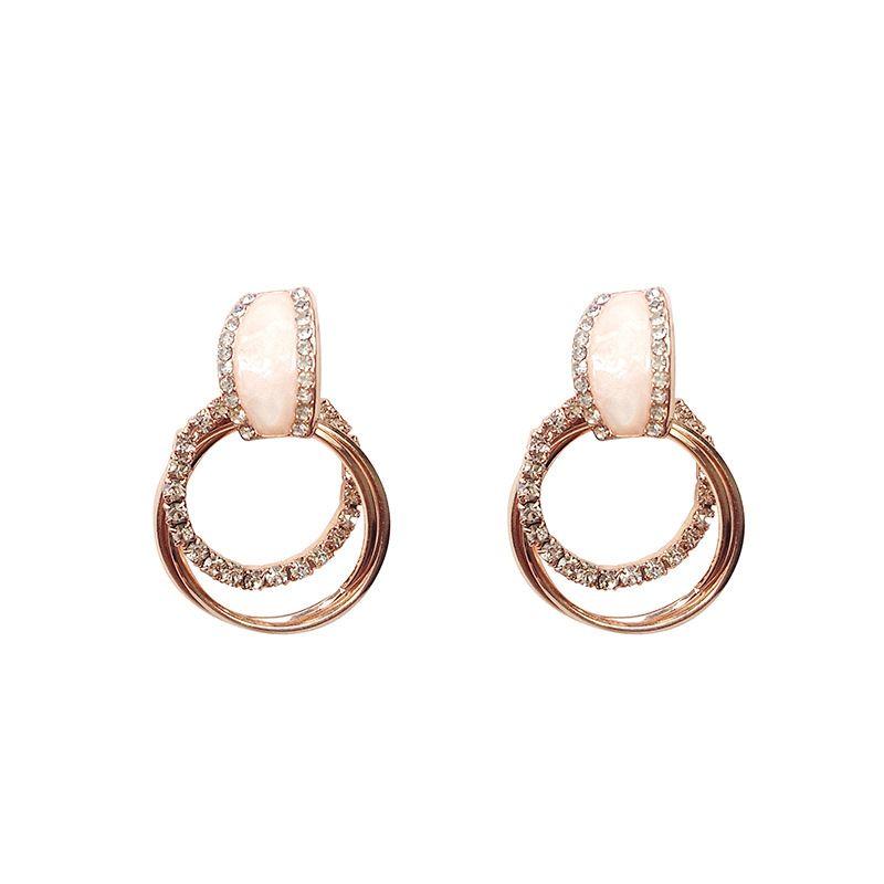 34e6eb15284bc Silver Needle Earring Earrings Circle in 2019 | Earrings | Earrings ...