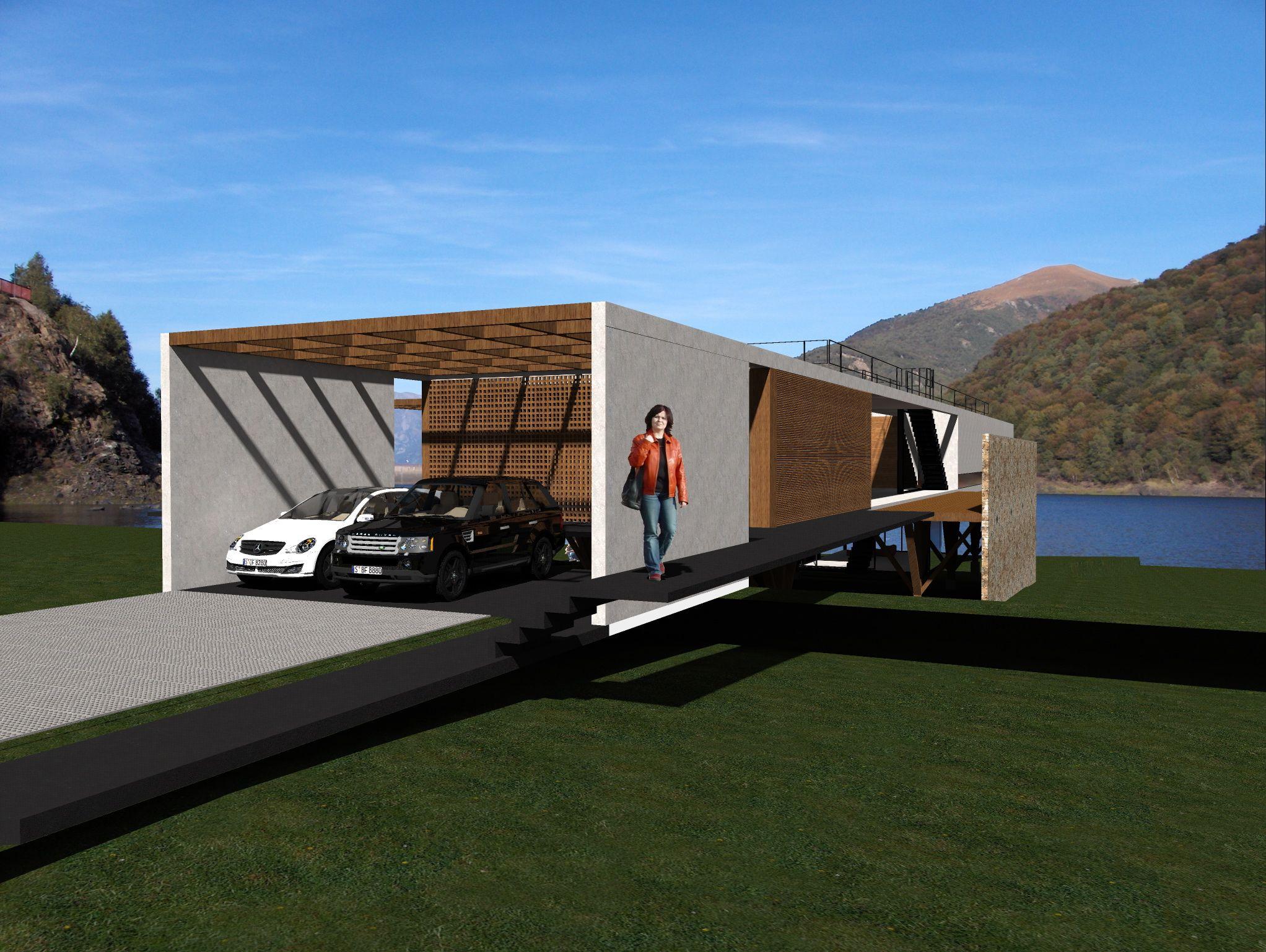 Casa Cavalete -  estrutura em Steel Frame