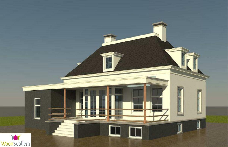 Notarishuis notariswoning witte villa landelijk wonen woonsubliem woning pinterest for Modern huis binnenhuisarchitectuur villas