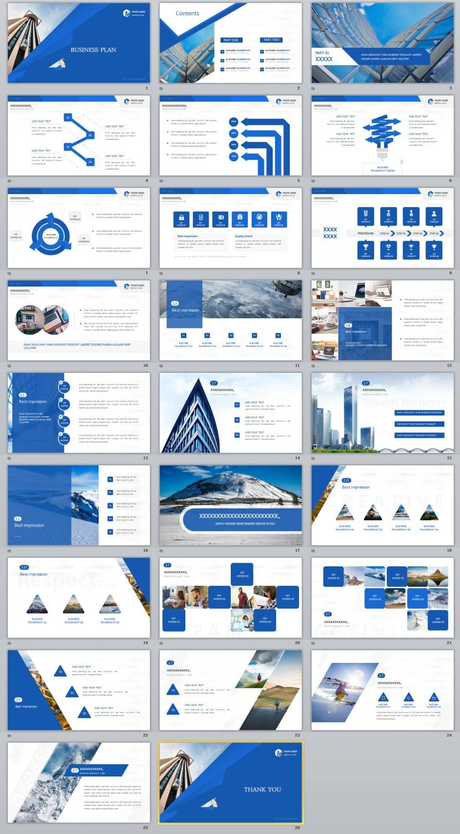 26+ blue creative business plan powerpoint template | best