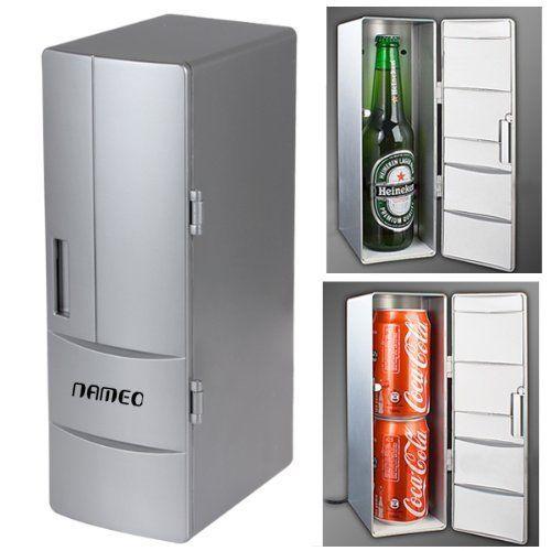 Usb Powered Mini Fridge Can Cooler Refrigerator Beer Soda Neon Red Modern Techniques Home & Garden