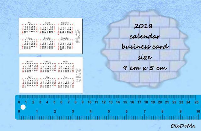 Printable small calendars ( business card size 9 x 5 cm ...