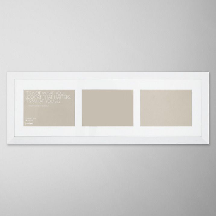 Buy John Lewis 3 Aperture Wall Mounted Picture Frame, White, H24 x ...