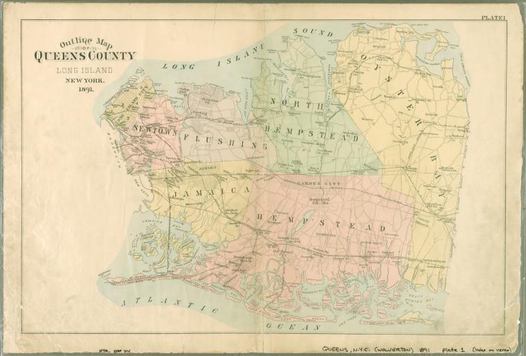 Queens County Long Island New York 1891 Peter Stringham Lived In Jamaica Queens County Long Island New York In 1681 Queens County Long Island Island