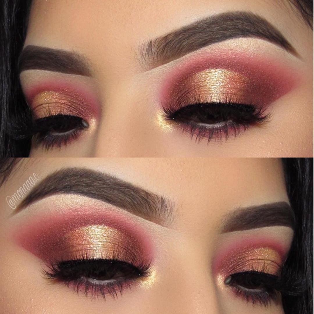 Gold And Burgundy Burgundy Makeup Maroon Eye Makeup Burgundy Makeup Look