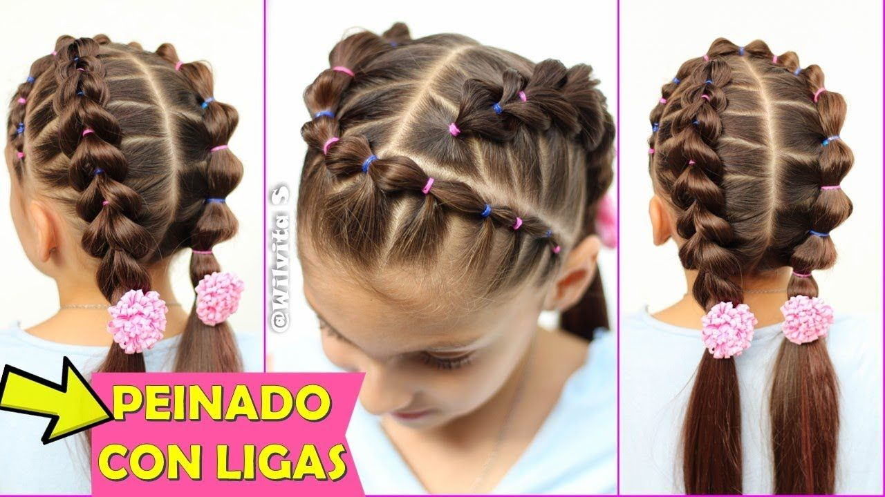 Peinado Con Ligas Peinados Para Ninas Wilvita Hair Tutorials Easy Hairstyles For Layered Hair Short Hair Tutorial