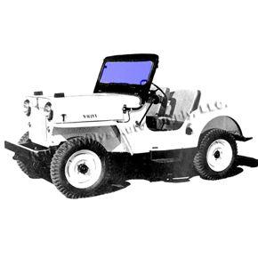 New Replacement Windshield Glass Fits 49 64 Cj 3a 3b M38 Windshield Glass Willys Jeep Willys
