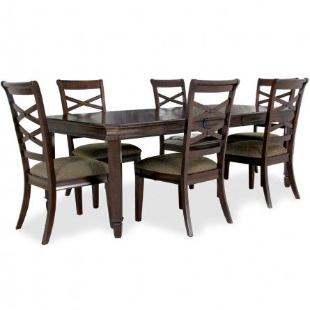 ASHLEY HAYLEY TABLE AND 6 CHAIRS   HOUSTON DINING ROOM TABLE SET Gallery  Furniture