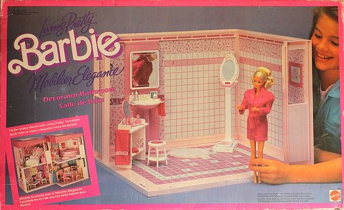 1987 Barbie Living Pretty Bathroom Barbie Box, Barbie Dolls, Barbie House,  Vintage Toys