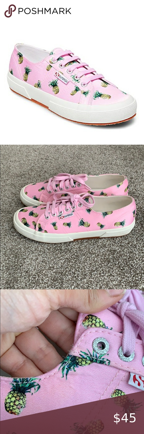 SUPERGA Pink Pineapple Sneakers Sz 40