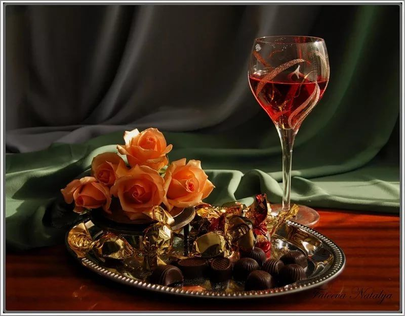 Сентября, картинки гифы вино и розы