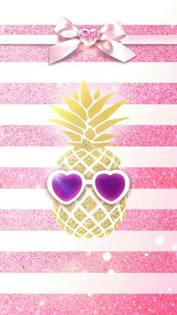 Girly iPhone Wallpaper Pink Pineapple Pink wallpaper