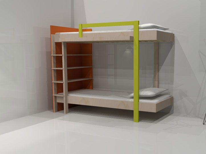 Impression Of Beautiful Diy Bunk Bed Mila Birch Plywood And