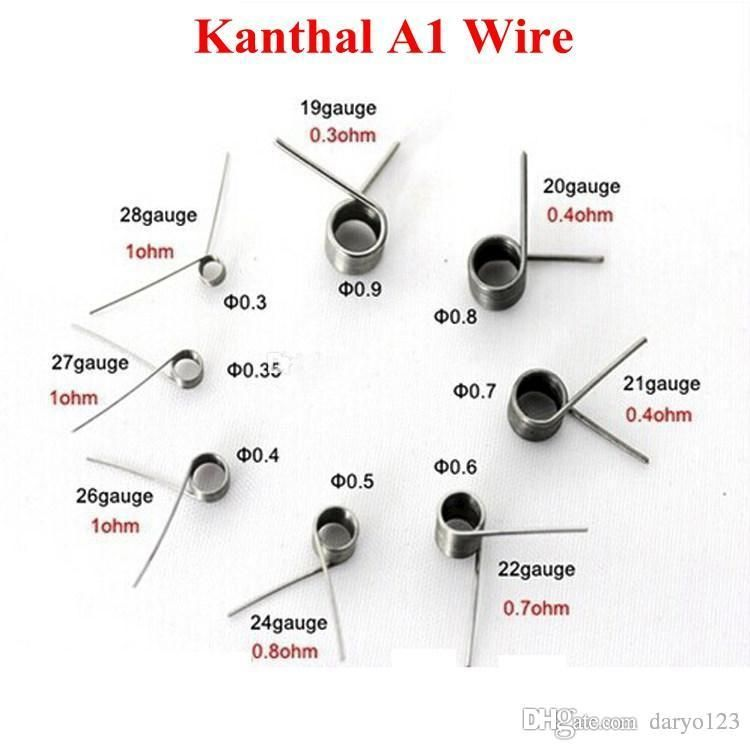 Kanthal A1 Kanthal Heating Wire 34 32 30 28 27 26 24 22 21
