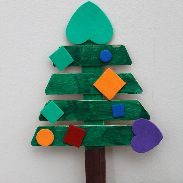Popsicle Stick Christmas Tree Crafts Pinterest Stick christmas
