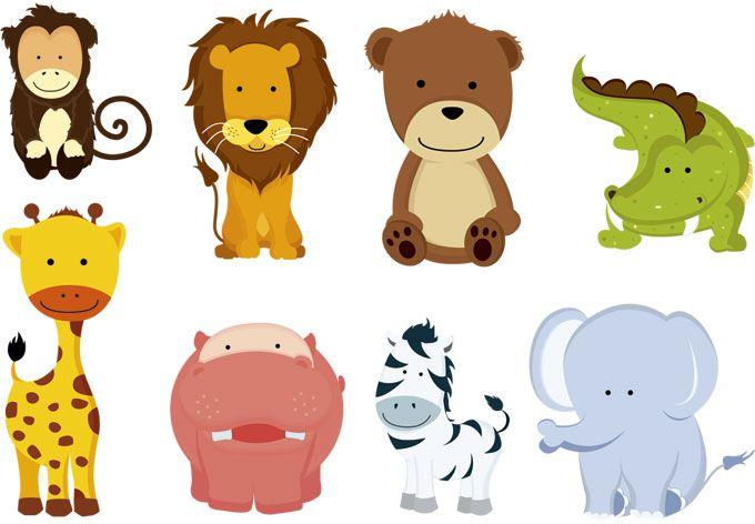 Stock Vector Cartoon Animals Animals Wild Animals For Kids