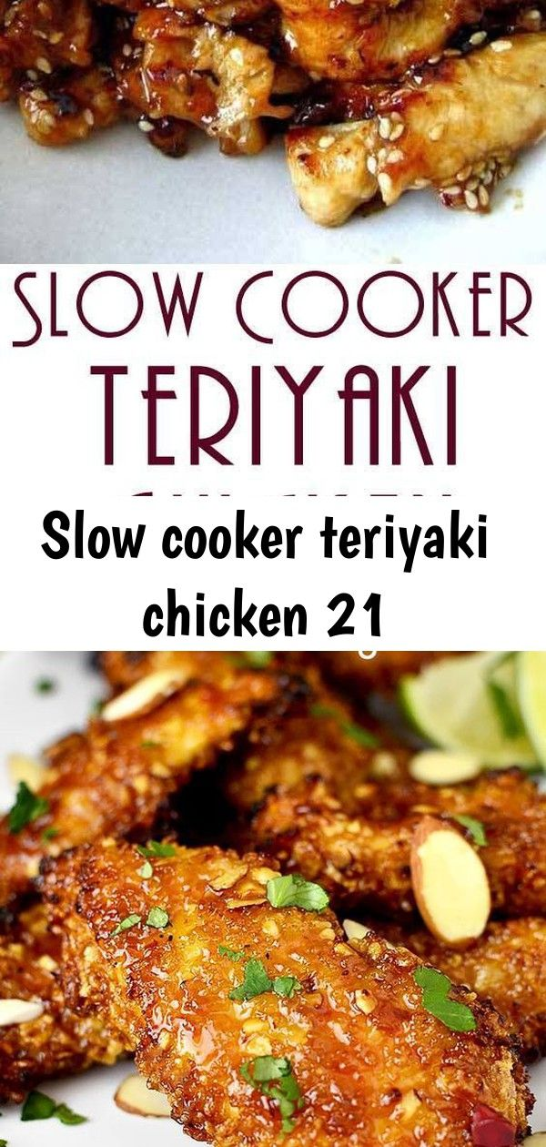 Slow cooker teriyaki chicken 21 #creamygarlicchicken