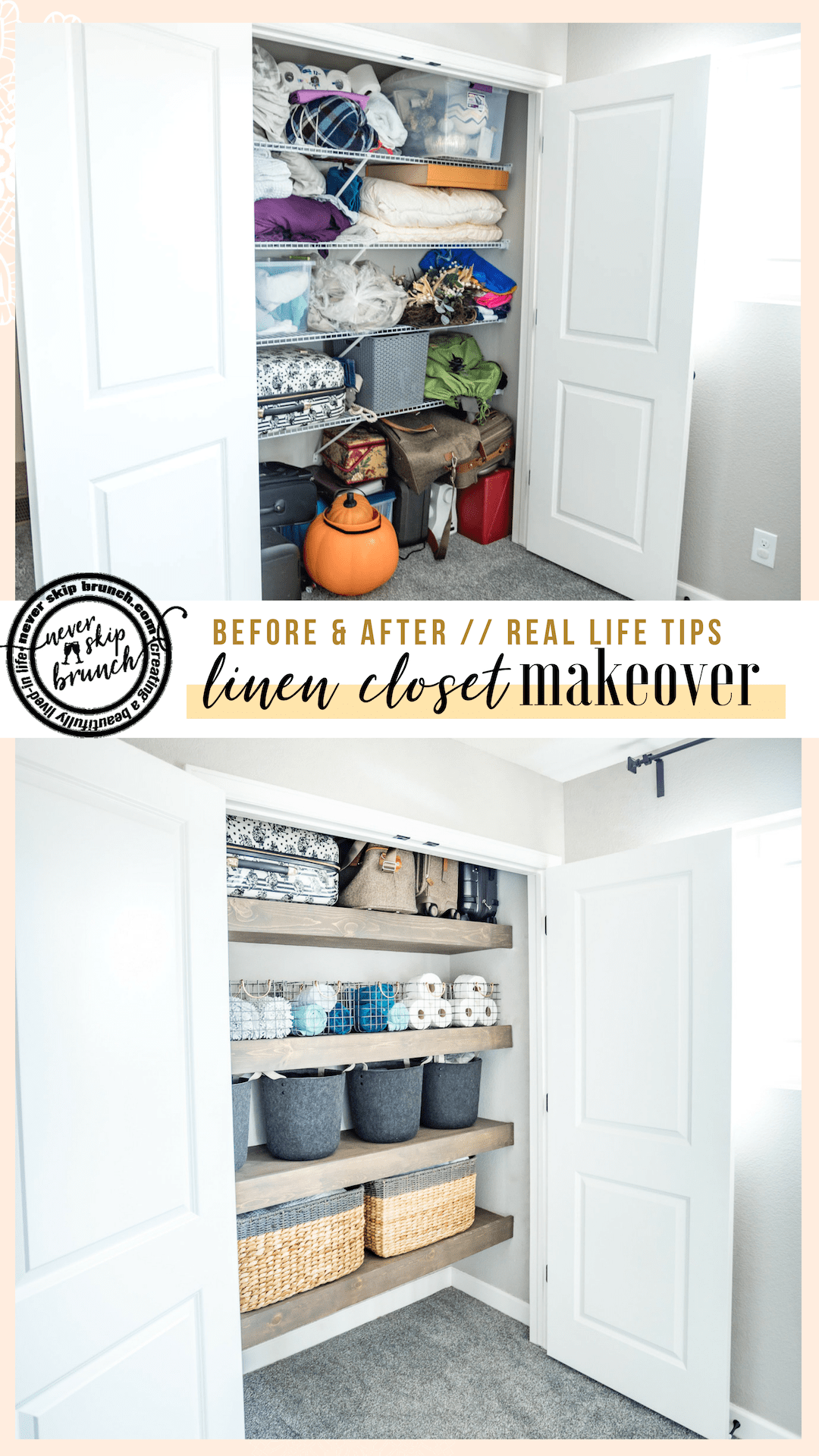 Linen Closet Organization Goals Before After Hiring A
