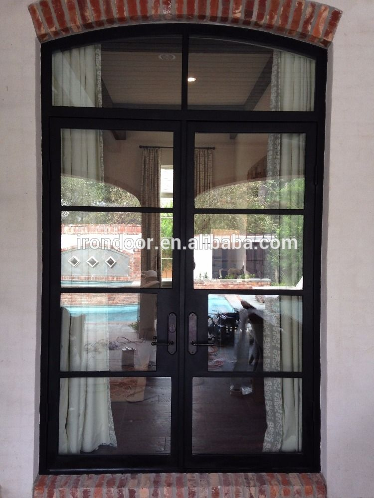 French Steel Door With Arch Top Transom View Fabricated Steel Doors