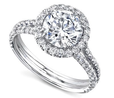 14K White Gold Diana Tiara Sareen Engagement Setting (0.78ctw) ITEM# 12505R2  This engagement ring is divine with its beauty and grace. It has an exquisite split shank design with a large center stone that is embraced by 84 luminous pave set diamonds. This is a captivating ring that will have people turning to see its elegance.  This ring is part of the Diana Tiara Collection by Sareen  http://www.novori.com/diamond-engagement-ring-side-diamonds-12505R2-p.html#