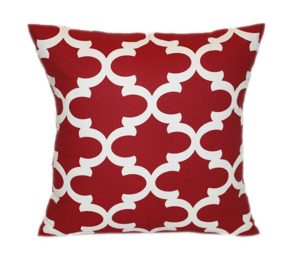 RED QUATREFOIL PILLOW Found A Set Of These At Costco For Just 40 Adorable Costco Decorative Pillows