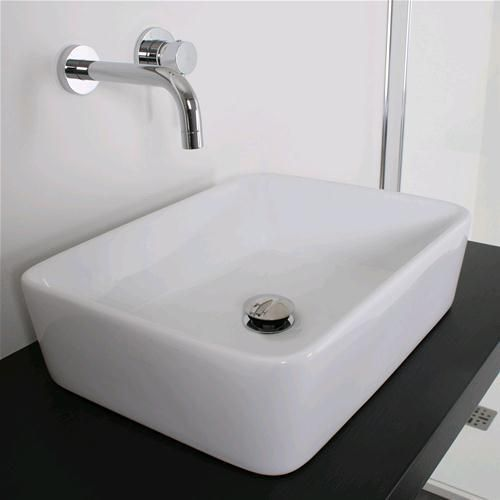 lavabo 48x37 cm rettangolare bacinella lavandino da appoggio ... - Arredo Bagno Pozzuoli