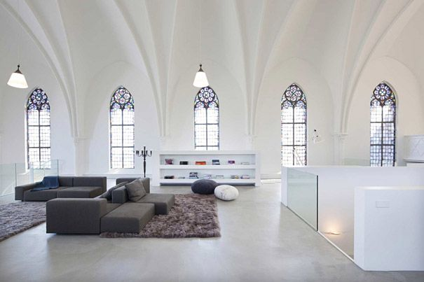 10 Of the Strangest Homes In the World - 10. Church Converted Into Modern Family Home, Holland