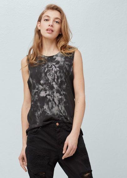 Camiseta algodón modal | MANGO