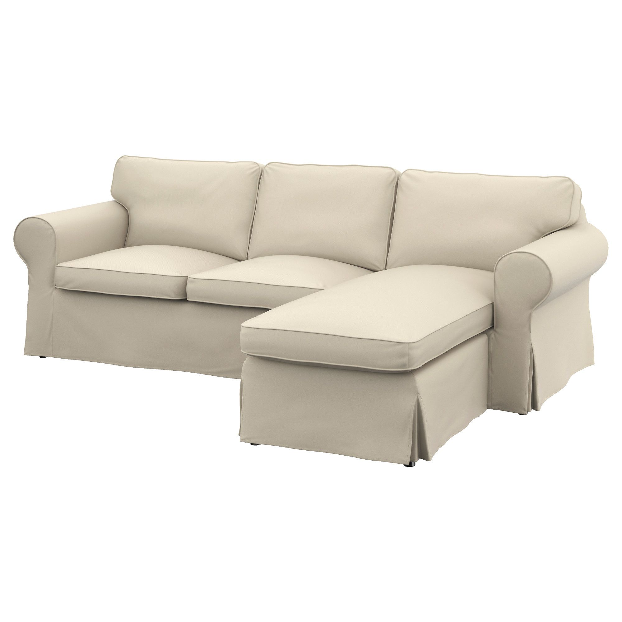 Ikea Ektorp Cover Two Seat Sofa W Chaise Longue Furniture