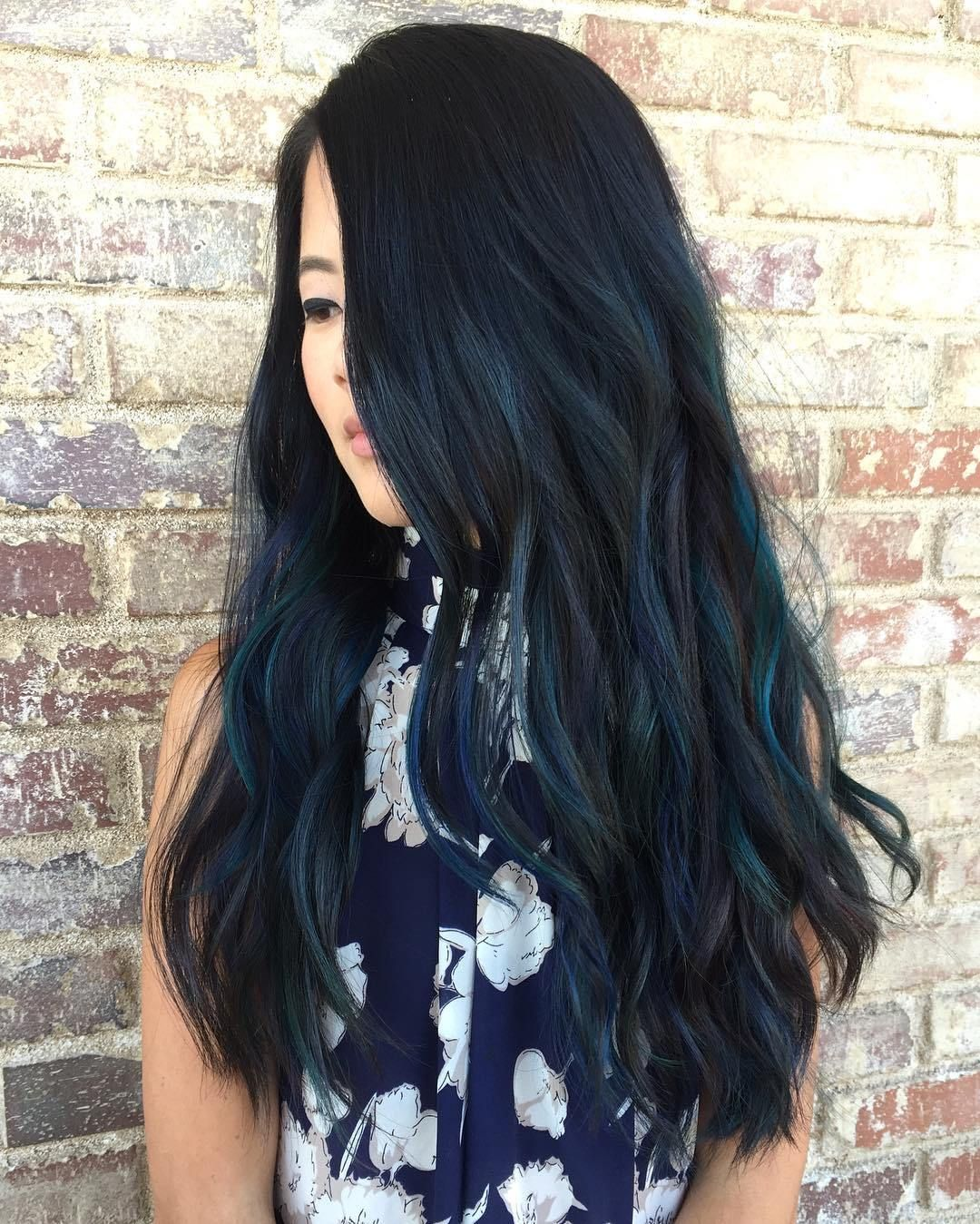 Blue black hair how to get it right blue highlights long black blue black hair how to get it right pmusecretfo Choice Image