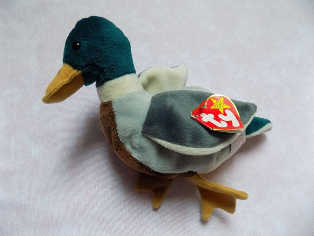 478b45f3b44 JAKE RARE WITH ERROR TY BEANIE BABY PVC PELLET DUCK JAKE  TY
