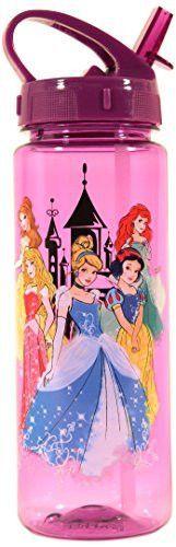 20-Ounces Silver Buffalo DP0164 Disney Princesses Tritan Water Bottle