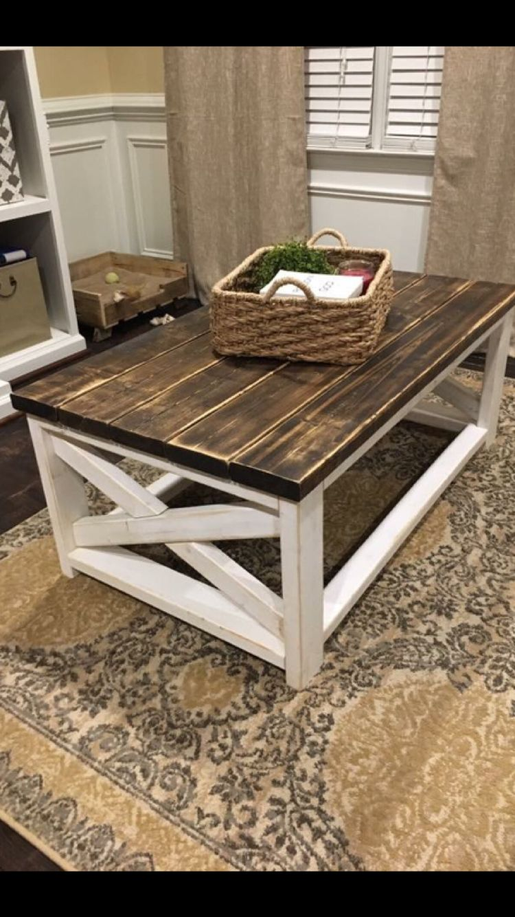 Love this coffee table!! The dark walnut is so rustic and