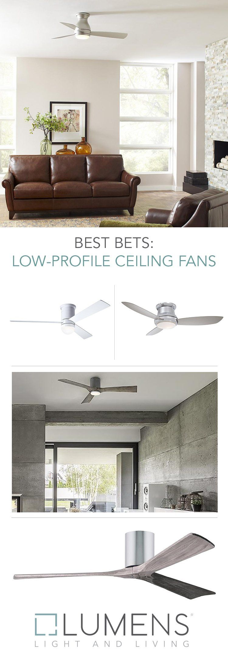Low Profile Ceiling Fans Also Known As Hugger Fans Or Flushmount Fans Are Great Options In Rooms With Low Cei Ceiling Fan Low Profile Ceiling Fan Low Ceiling