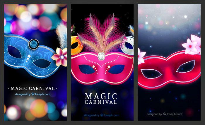 Блог Колибри: Carnival style mask vector