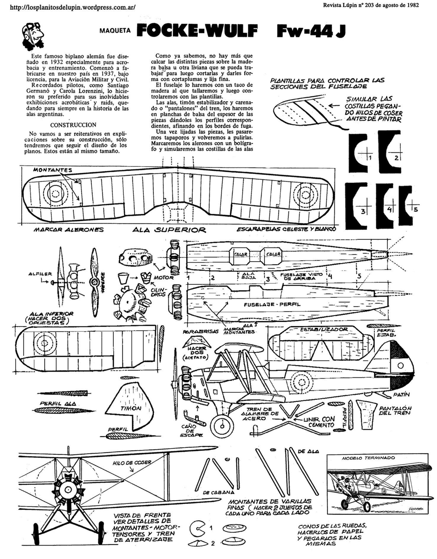 Planitos De Lupin Focke Wulf Fw 44