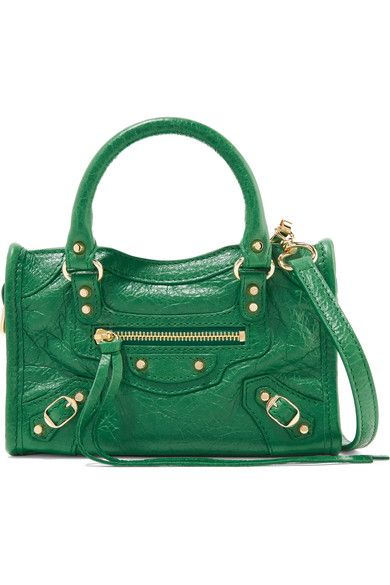 f8c76faf3211 Balenciaga - Classic City Nano Textured-leather Shoulder Bag - Forest green  - one size