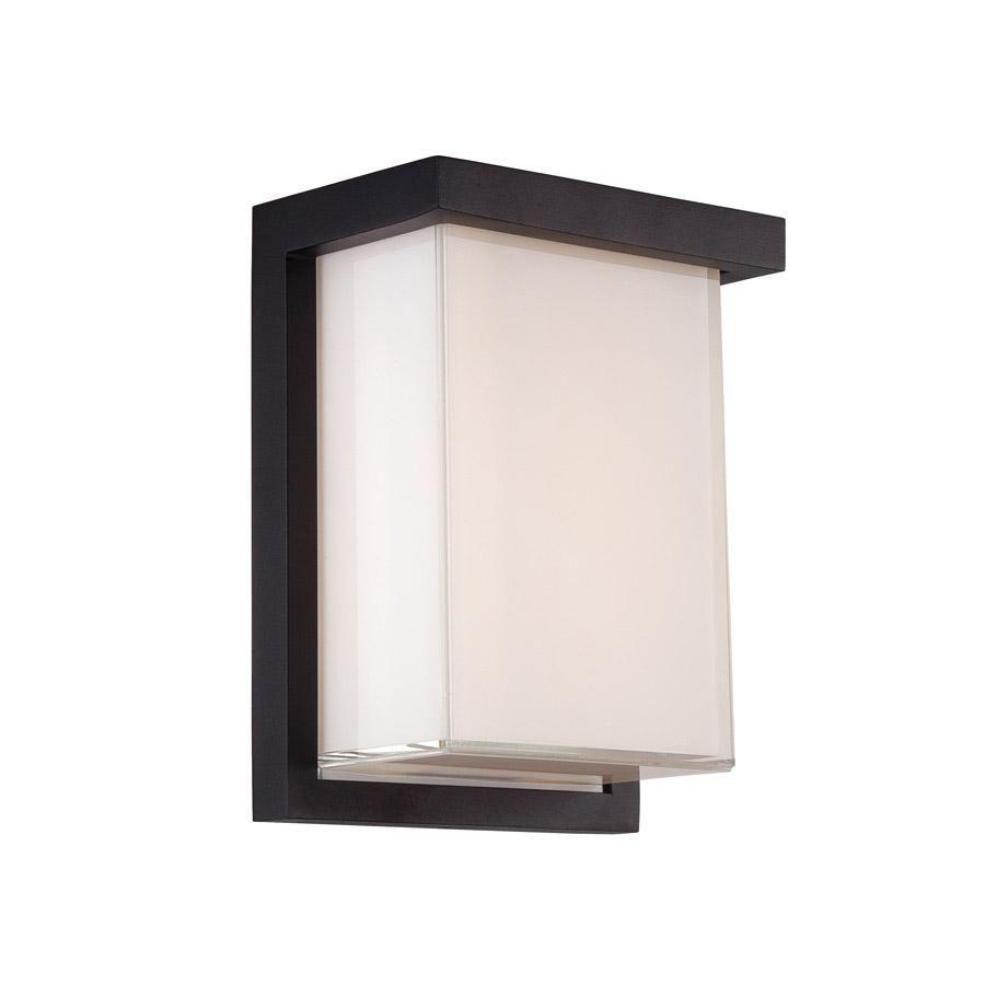 Modern forms wswbk ledge led inch black outdoor wall light