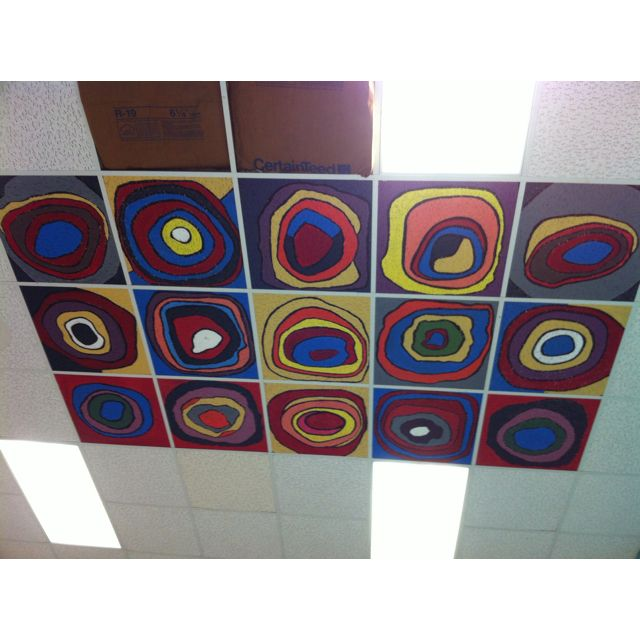 Mural done by my middle school art students - I can see my ceiling covered like this. A class project for kids that finish early