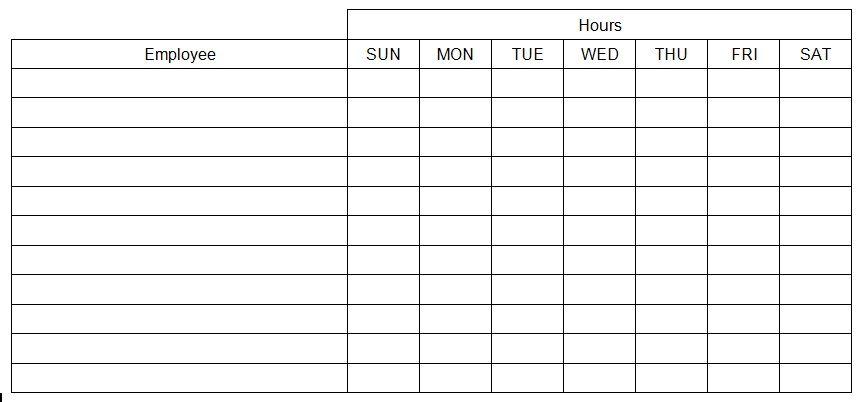Work Schedule Maker Template Free Schedule Maker Work Schedule Weekly Schedule Template Excel