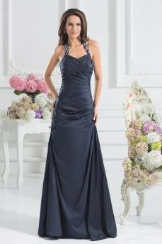 Elegant Halter Sleeveless Taffeta Evening Dresses. Grab unbeatable discounts up to 70% Off at Abbydress with Mother's Day Discount Codes.