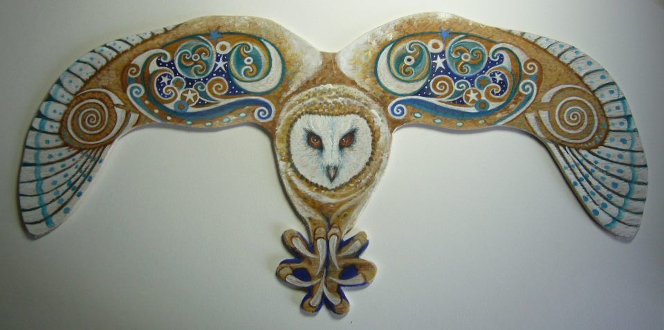 Celtic Owl Sylvan Hare Arts The Owl Is Sacred To The