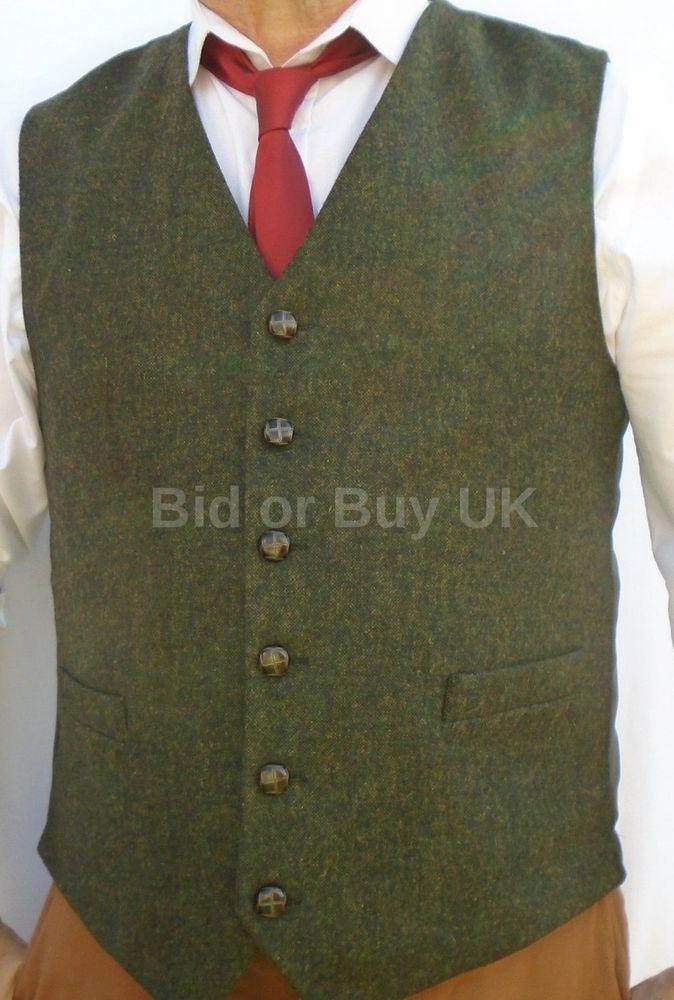 Men's Vintage Wool Button Vest - XL 4asvJqc