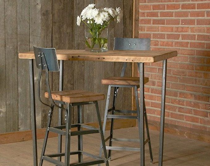reclaimed stool with steel back 1 25 counter height stool with